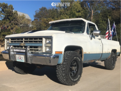 "1986 Chevrolet K10 Pickup - 15x8 0mm - Ultra Menace - Leveling Kit - 33"" x 12.5"""
