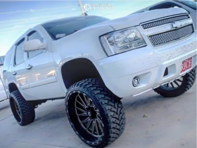 "2007 Chevrolet Tahoe - 26x12 -44mm - Tis 547BM - Suspension Lift 7"" - 35"" x 13.5"""