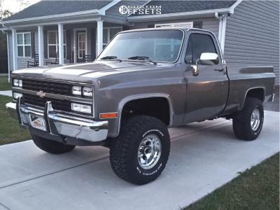"1985 Chevrolet K10 - 15x10 -48mm - Pacer 164 - Suspension Lift 3"" - 33"" x 12.5"""