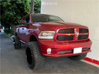 "2014 Dodge Ram 1500 - 24x14 -76mm - TIS 544 - Suspension Lift 8.5"" - 37"" x 13.5"""