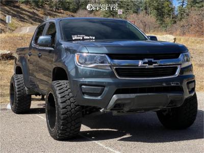 "2019 Chevrolet Colorado - 20x12 -44mm - Karma Offroad K25 - Suspension Lift 2.5"" - 33"" x 12.5"""