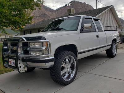 1994 Chevrolet K1500 - 22x9.5 0mm - 2Crave N04 - Leveling Kit - 285/45R22