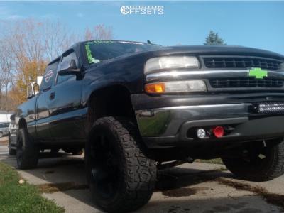 "2002 Chevrolet Silverado 1500 - 20x9.5 -0mm - XD Rockstar - Suspension Lift 4.5"" - 31"" x 9.5"""