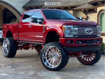 """2019 Ford F-250 Super Duty - 30x16 -101mm - American Force Afw11 - Suspension Lift 12"""" - 42"""" x 16.5"""""""