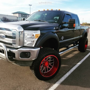 """2012 Ford F-250 - 24x14 -76mm - American Offroad A105 - Suspension Lift 6"""" - 37"""" x 13.5"""""""