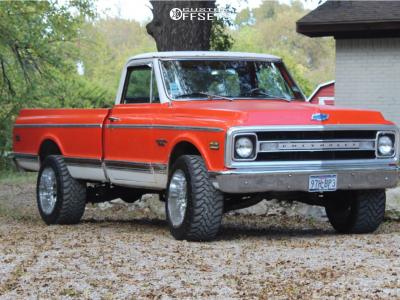 "1970 Chevrolet C10 Pickup - 20x12 -44mm - American Truxx At154 - Suspension Lift 3"" - 33"" x 12.5"""