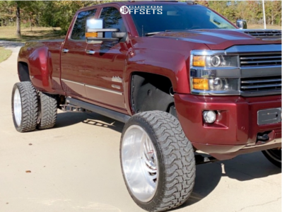 "2016 Chevrolet Silverado 3500 HD - 26x16 -101mm - Fuel Forged Ff28 - Suspension Lift 12"" - 37"" x 14.5"""