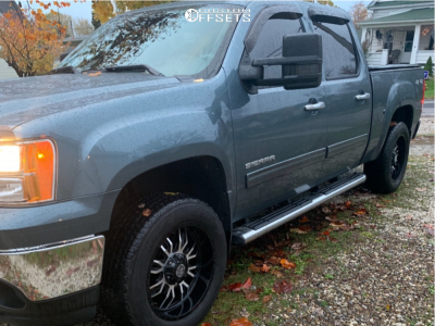 """2011 GMC Sierra 1500 - 20x9 -12mm - Panther Offroad 580 - Stock Suspension - 31"""" x 9.5"""""""