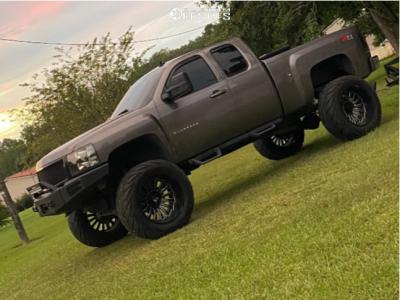 """2013 Chevrolet Silverado 1500 - 24x14 -76mm - ARKON OFF-ROAD Alexander - Suspension Lift 7.5"""" & Body 3"""" - 40"""" x 15.5"""""""