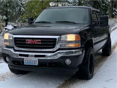"2007 GMC Sierra 1500 Classic - 20x12 -24mm - Full Throttle Ft-6054 - Leveling Kit - 33"" x 12.5"""