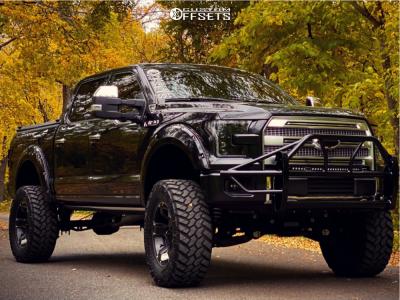 """2015 Ford F-150 - 20x9 -12mm - XD Rockstar Ii - Suspension Lift 9.5"""" - 37"""" x 13.5"""""""