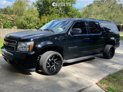 2014 Chevrolet Suburban 1500 - 20x12 -51mm - Vision Prowler - Stock Suspension - 295/30R20