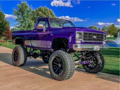 "1977 Chevrolet K10 - 22x14 -76mm - Dropstar 645bm - Lifted >12"" - 40"" x 14.5"""