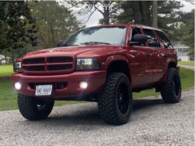 "1999 Dodge Durango - 20x12 -44mm - Moto Metal Mo970 - Suspension Lift 5"" - 33"" x 12.5"""