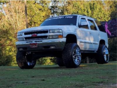 "2004 Chevrolet Tahoe - 24x14 -76mm - Hostile Vulcan H120 - Suspension Lift 6"" - 35"" x 13.5"""
