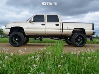 "2004 Chevrolet Silverado 2500 HD - 24x14 -76mm - Hostile Fury - Suspension Lift 8"" - 375/40R24"