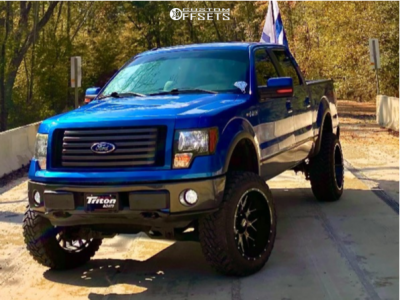 "2011 Ford F-150 - 22x12 -44mm - Hardrock Affliction Xposed - Suspension Lift 6"" - 35"" x 12.5"""