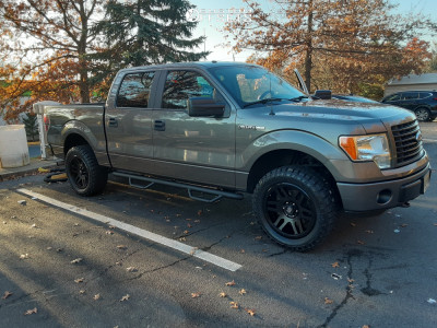 "2014 Ford F-150 - 20x9 20mm - Fuel Recoil - Leveling Kit - 32"" x 11.5"""