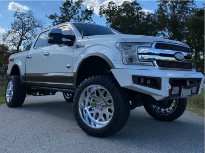 "2018 Ford F-150 - 22x12 -51mm - American Force Flux Ss - Suspension Lift 6"" - 35"" x 12.5"""