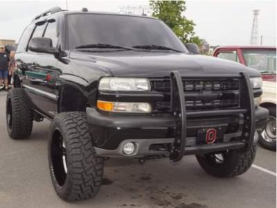 "2005 Chevrolet Tahoe - 22x11.5 -44mm - Black Rhino Canon - Suspension Lift 6"" - 35"" x 12.5"""