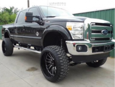 "2014 Ford F-250 Super Duty - 26x14 -72mm - Tuff T2a - Suspension Lift 8"" - 37"" x 13.5"""