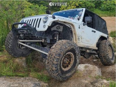 "2015 Jeep Wrangler - 17x8.5 0mm - Method Nv - Suspension Lift 3.5"" - 40"" x 13.5"""