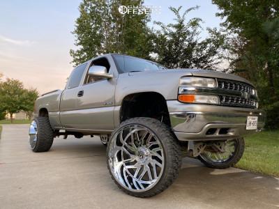 "1999 Chevrolet Silverado 1500 - 26x14 -76mm - TIS 544c - Air Suspension - 35"" x 13.5"""