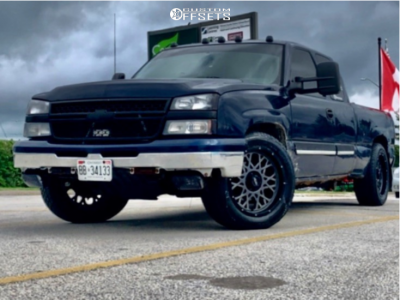 "2006 Chevrolet Silverado 1500 - 20x10 -25mm - Vision Rocker - Stock Suspension - 32"" x 11.5"""