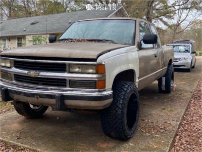 "1994 Chevrolet K1500 - 20x12 -44mm - Motiv Offroad Magnus - Leveling Kit - 33"" x 12.5"""
