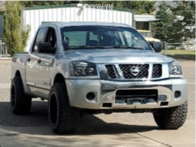 """2010 Nissan Titan - 20x12 -44mm - RBP 75r - Suspension Lift 5"""" - 33"""" x 12.5"""""""