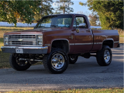 "1986 Chevrolet K10 Pickup - 17x9 -12mm - Pacer 164 - Suspension Lift 4"" - 33"" x 12.5"""