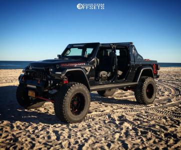 "2020 Jeep Gladiator - 20x12 -44mm - Moto Metal Mo962 - Suspension Lift 6.5"" - 40"" x 15.5"""