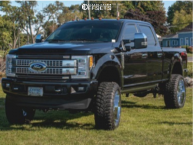 """2019 Ford F-250 - 26x12 -44mm - Axe Offroad Nemesis - Suspension Lift 6"""" - 37"""" x 13.5"""""""