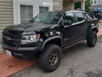 2019 Chevrolet Colorado - 17x8.5 0mm - Icon Alloys Rebound - Lifted - 285/70R17