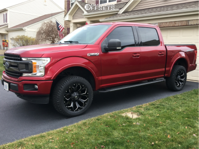 2018 Ford F-150 - 20x9 1mm - Fuel Assault - Stock Suspension - 285/55R20