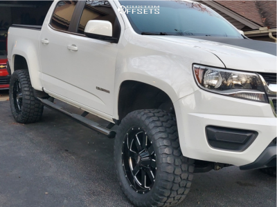 "2016 Chevrolet Colorado - 20x9 0mm - Moto Metal Mo962 - Suspension Lift 4"" - 33"" x 12.5"""