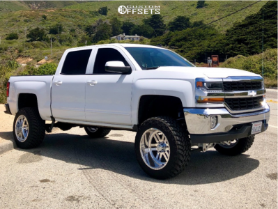 """2016 Chevrolet 1500 - 20x12 -40mm - American Force Vector Fp - Suspension Lift 7"""" - 33"""" x 12.5"""""""