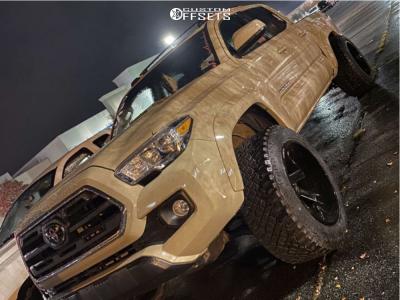 2018 Toyota Tacoma - 20x12 -51mm - ARKON OFF-ROAD Lincoln - Stock Suspension - 265/50R20