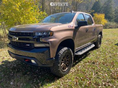2019 Chevrolet Silverado 1500 - 20x9.5 12mm - Fuel Rebel - Leveling Kit - 295/60R20