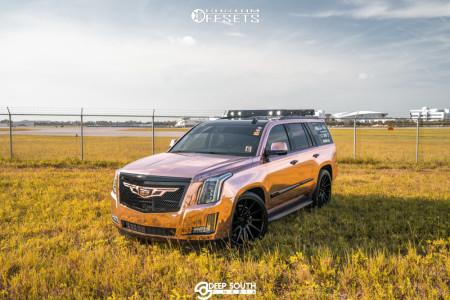 2016 Cadillac Escalade - 24x10 30mm - DUB Chedda - Lowered 2F / 4R - 295/35R24