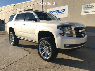 "2015 Chevrolet Tahoe - 24x9 0mm - Replica Denali - Suspension Lift 6"" - 35"" x 12.5"""