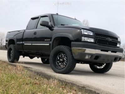 "2005 Chevrolet Silverado 2500 HD - 20x10 -25mm - Cali Offroad Gemini - Leveling Kit - 33"" x 12.5"""