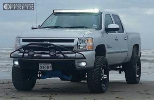 """2011 Chevrolet Silverado 1500 - 22x10 25mm - DUB Big Homie - Suspension Lift 4"""" - 35"""" x 12.5"""""""