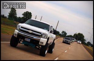 "2011 Chevrolet Silverado 1500 - 20x12 -44mm - Alloy Ion Style 183 - Suspension Lift 7"" - 35"" x 12.5"""