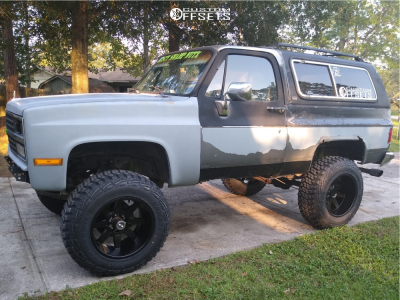 "1990 Chevrolet Blazer - 20x12 -51mm - Toxic Widow - Suspension Lift 4"" - 37"" x 12.5"""
