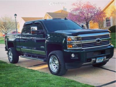 "2015 Chevrolet Silverado 3500 HD - 20x10 -18mm - Fuel Triton - Stock Suspension - 33"" x 12.5"""