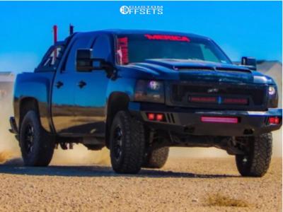 """2011 Chevrolet Silverado 1500 - 17x10.5 -18mm - Black Rhino Sierra - Suspension Lift 3"""" - 33"""" x 12.5"""""""