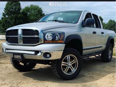 "2006 Dodge Ram 1500 - 20x9.5 0mm - MB Design Lv1 - Suspension Lift 4"" - 35"" x 12.5"""