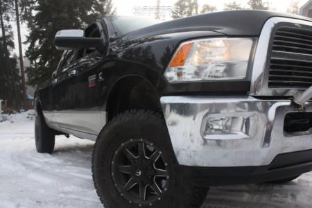 "2010 Dodge Ram 3500 - 17x9 0mm - Fuel Maverick - Suspension Lift 3"" - 35"" x 12.5"""
