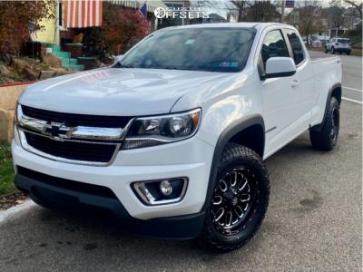 2018 Chevrolet Colorado - 18x9 7mm - Fuel Titan - Leveling Kit - 265/65R18